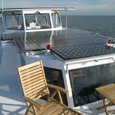 Amazing! Solar panels in a yacht