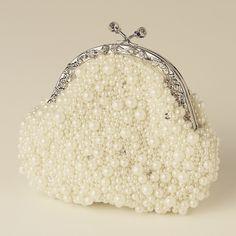"""The Camilla"" Pearl & Rhinestone Bag (Ivory/White) – Sweet Heart Details"