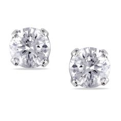 Check out this Miadora 14K White Gold 1/2ct TDW Diamond Stud Screwback Earrings (J-K, I2-I3) on BriskSale: