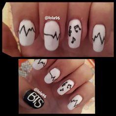 Simple Nail Designs, Nail Art Designs, Beauty Art, Beauty Nails, Love Nails, My Nails, Bts Makeup, Elegant Nail Art, Korean Nails