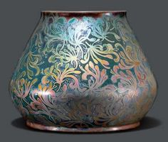 Artwork by Clément Massier, VASE, Made of Ceramics, with iridescent glaze
