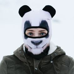 Fun and curious, Pandas are simply always getting into trouble. It's for this reason that we just had to make a Panda facemask for our new collection! A high quality playful panda print and It even co
