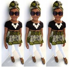 Little Girl's swag is on point