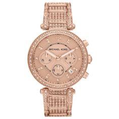 #MichaeKors Michael Kors #Uptown #Glam Parker Chronograph #Rose #Gold-Tone Ladies #Watch MK5663