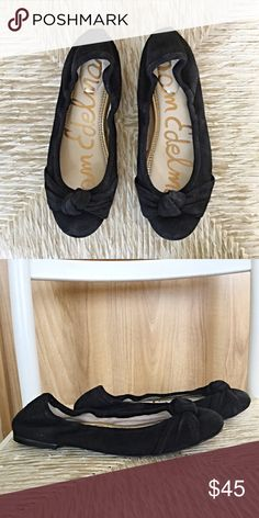 Sam E black suede flats. Ultra comfy and stylish! Dance the night away and the slip on these ultra comfy flats and still look stunning! NWOT Sam Edelman Shoes Flats & Loafers