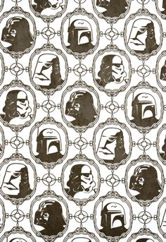Star Wars Wallpaper Pattern.  For the classy geek.