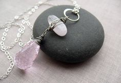 rose quartz, color of the year, spring colors, brenda mcgowan jewelry, long layering necklace