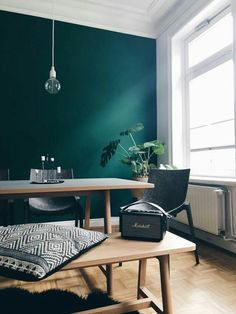 Dark Living Rooms, Living Room Green, Living Room Decor, Bedroom Decor, Ikea Bedroom, Green Dining Room, Bedroom Furniture, Dining Room Colors, Modern Living