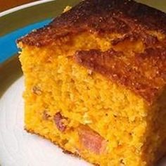 Bacon Sweet Potato Cornbread | A classic, old-fashioned, dense skillet corn bread gets jazzed up with bacon and sweet potato.