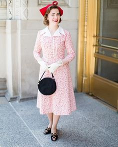 We just adore @modedelis! How lovely is this vintage inspired dress created using Hope Chest 2? Get the details on our blog today #pennyrosefabrics #ilovepennyrose #fabricisMYfun #retrofashion #30sfashion #retrosewing #vintagestyle #sewing #sew #create #handmade