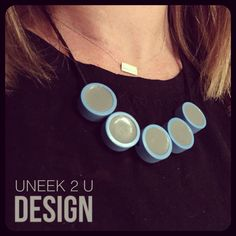 Simple Rounds variation - hand crafted resin neck wares. No two pieces will ever be exactly the same in colour or finish. Uneek 2 U, made personal by me