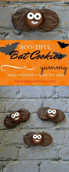 Halloween is almost here.so bring out the ghouls, goblins, ghosts, and bats! These semi-homemade bat cookies are perfect for preschool play dates and elementary parties. So easy you can make them with the kids-- delicious no bake cookies using Nutter B Halloween Cookie Recipes, Halloween Cupcakes, Halloween Bats, Holidays Halloween, Holiday Recipes, Halloween Foods, Halloween Ideas, Holiday Ideas, Halloween 2015