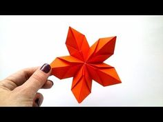 Modular Origami Flower of 5 Petals. - YouTube