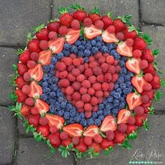 Love!  Live Pure Jenna used organic Driscoll's berries to create this beautiful #pictureperfectplate for us this summer!  Bring some berry love to any get together with this fun and bright dish!