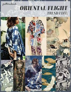 A/W 2016/17 – MIXED ORIENTAL MOTIFS / INDIGO STENCILLED / BAMBOO LEAVES & SHOOTS / ORIENTAL BIRDS / ORIENTAL SCENES & BORDERS ABSTRACT FLOWER BY BO