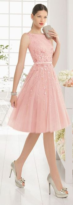 Energetic Tulle & Satin Bateau Neckline A-Line Cocktail Dresses With Sequins…