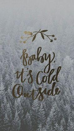 The most wonderful time of the year! - Baby, it's cold outside wallpaper Christmas Quotes, All Things Christmas, Winter Christmas, Christmas Time, Christmas Captions, Merry Christmas, Christmas 2017, Winter Snow, Cute Backgrounds