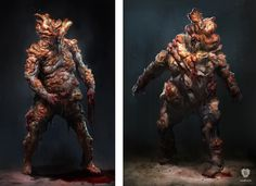 #Bloaters is concept art for #PlayStation 3 game #TheLastofUs. This game art print shows the final visual design of the Bloaters. In the game these are heavily mutated humans that have been infected by a deadly virus. The image and print have been made and are signed by artist #Hyoung T. Nam for studio #NaughtyDog and is part of the official The Last of Us fine art print collection. #TLOU