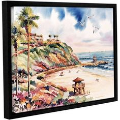 ArtWall Bill Drysdale Salt Creek Beach Gallery-Wrapped Floater-Framed Canvas, Size: 18 x 24, Blue
