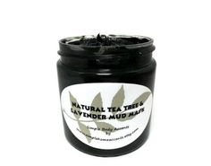 Lavender and Tea Tree Mud Mask Clay Mask with by SimpleHomeAccents