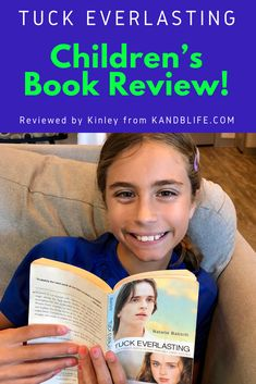 11 year old Kinley reviews Tuck Everlasting by Natalie Babbitt.  Read it to find out if it's a good fit for you, your kids or students.  Happy Reading! Book Reviews For Kids, Tuck Everlasting, Happy Reading, Love Book, Childrens Books, How To Find Out, Students, Good Things