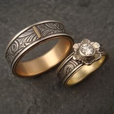 custom wedding set | by downtothewiredesigns