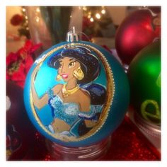 She SPARKLES Dazzling Princess Jasmine hand-painted by Santabaybee
