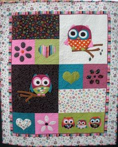 Owl Tree Quilt or Playmat | onebeelane - Quilts on ArtFire