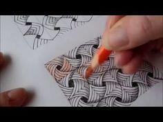 "Rick Roberts and Maria Thomas, creators of Zentangle®, show how to tangle ""betweed."" Zentangle is an easy to learn and relaxing method of creating beautiful . Mandala Art, Mandala Doodle, Tangle Doodle, Zen Doodle, Mandala Pattern, Doodle Art, Zentangle Drawings, 3d Drawings, Doodles Zentangles"
