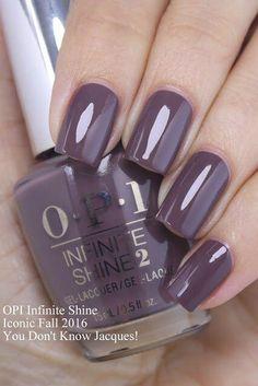 "Love the shape & length for ""short"" stretches lol #""gelnaildesignsforfallcolors"" Nails Polish, Opi Nails, Nail Polish Colors, Manicure Colors, Color Nails, Purple Nails, Plum Nails, Dark Blue Nails, Purple Nail Polish"