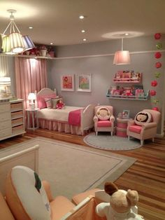 Amazing Girls Room Decor Ideas for Teenagers - Kinderzimmer Big Girl Bedrooms, Little Girl Rooms, Girls Bedroom, Princess Bedrooms, Trendy Bedroom, Baby Bedroom, Little Girls, Baby Room Decor, Bedroom Decor