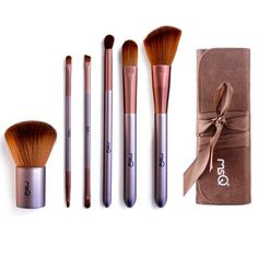 MSQ Professional Cosmetic 6piece Makeup Brushes with a Beautiful Pouch *** You can get additional details at the image link.