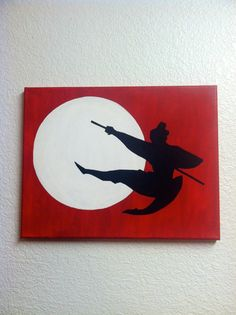 Disney Silhouette Painting  Mulan I'll Make A Man by EtchyDisney, $30.00