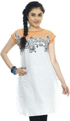Buy W Printed Cotton Kurti For Women With Flat 30% OFF For Just Rs. 700 Only At Snapdeal