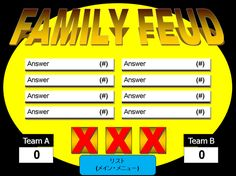A list of the best free Family Feud PowerPoint templates for teachers. Create a fun game of Family Feud for your students. Christmas Games For Family, Family Fun Night, Christmas Ideas, Holiday Games, Christmas Gifts, Family Reunion Games, Family Games, Family Reunions, Group Games