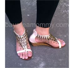 Love these beaded sandals from Oasap!
