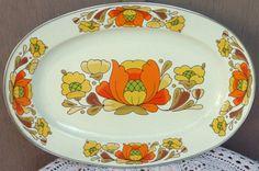 Large Oval Sanko Ware Porcelain Enameled by wemixandmatchvintage, $17.00