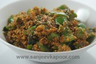 How to make Tilli Phalli Shimla Mirch-Capsicum cooked with sesame seeds and peanuts. Veg Recipes Of India, Vegetable Recipes, Indian Food Recipes, Vegetarian Recipes, Cooking Recipes, Vegetarian Curry, Indian Foods, Capsicum Recipes, Chutney Recipes