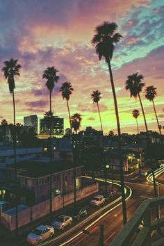 LA cotton candy sunsets and palm trees.