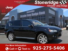 2011 *Mitsubishi*  *Outlander* *suv* *GT*   106k miles Call for Price 106253 miles 925-275-5406 Transmission: Automatic  #Mitsubishi #Outlander Sport Utility GT #used #cars #StoneridgeChryslerJeepDodge #Pleasanton #CA #tapcars