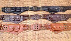 "Leather Utility Belt""The Jedi"" DK Brown-Steampunk,Festival Pocket,Burning man"