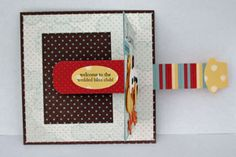 Slider card. Was trying to do this with my Christmas card for 2013 and trying to figure out how to do it...