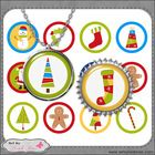 "1"" Circles Sticker / Bottle Cap / Jewelry Digital Collage Sheet Download.  This 6"" x 4"" digital collage sheet is high quality 300 dpi in non-transp..."