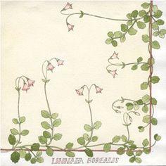 Linnea Borealis Flower Luncheon Napkin - Cream