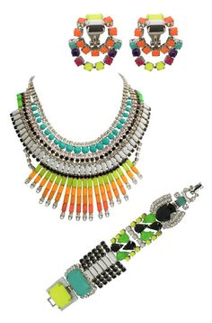 I collected rhinestone jewelry as a kid - I need something funky like this!