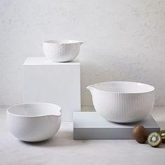 Textured Mixing Bowl Set #westelm