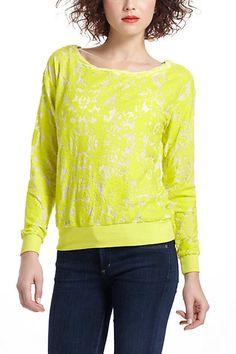 Flocked Chrysanthemum Sweatshirt. Yep. It's a sweatshirt <3 #anthropologie