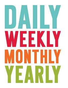 2016 Everyday Planner - daily, weekly, monthly, yearly, budgeting, saving, cleaning, meal planning, health and life organizing printables by MissTiina.com