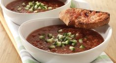 Grilled Tomato Gazpacho with Toasted Spanish Tomato Bread Recipe by Jamie Purviance