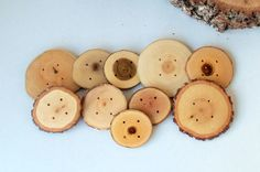 NEW  Wood Buttons  10 Buttons  6 Kind Tree by forestinspiration, $37.00